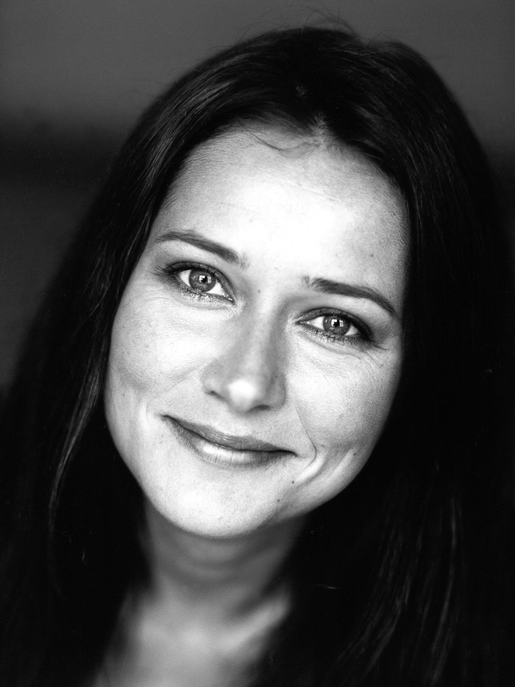 Sidse Babett Knudsen, Danish actress, brilliant, versatile, portrait, photo b/w.