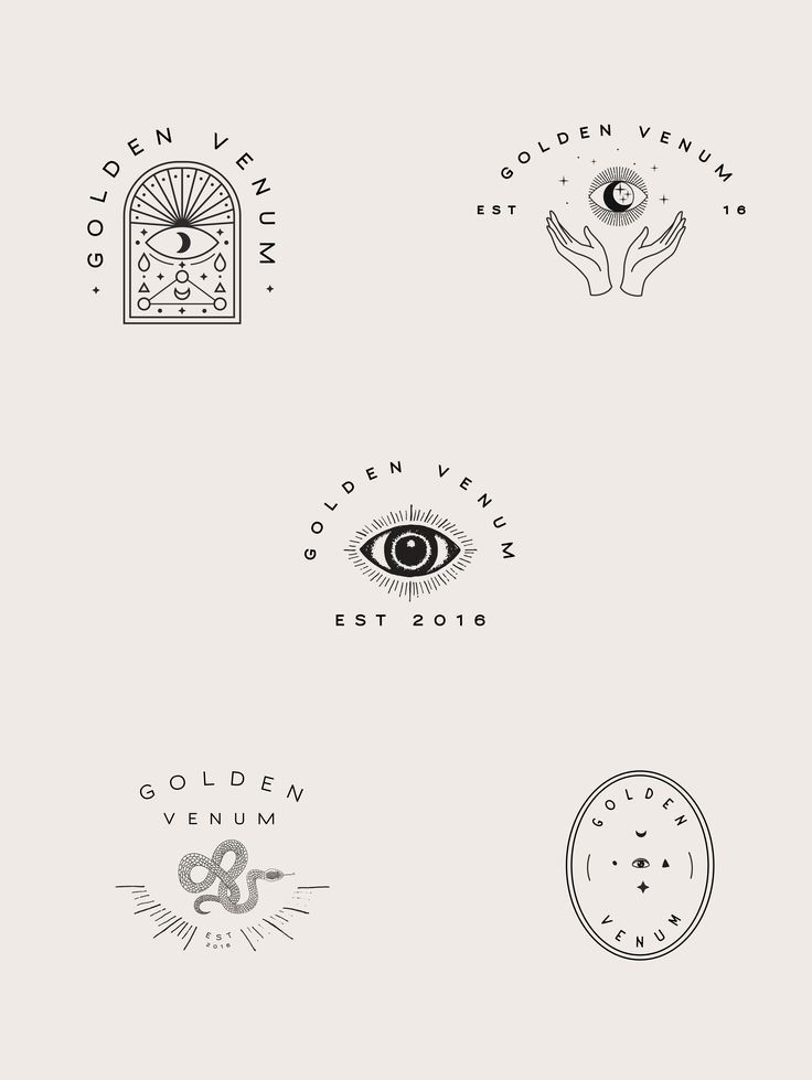 Alchemist logo design, esoteric branding, eye illu…