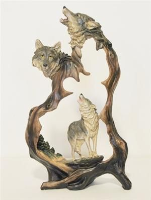 Wolf Duet Figurine for 2014, comes in printed gift box