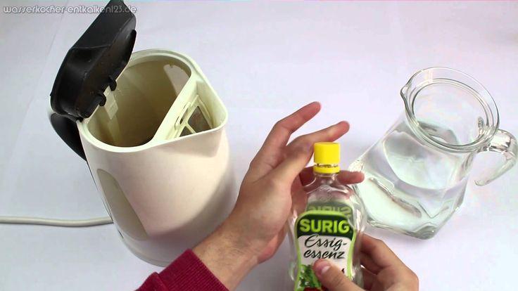 Wasserkocher entkalken mit Essigessenz