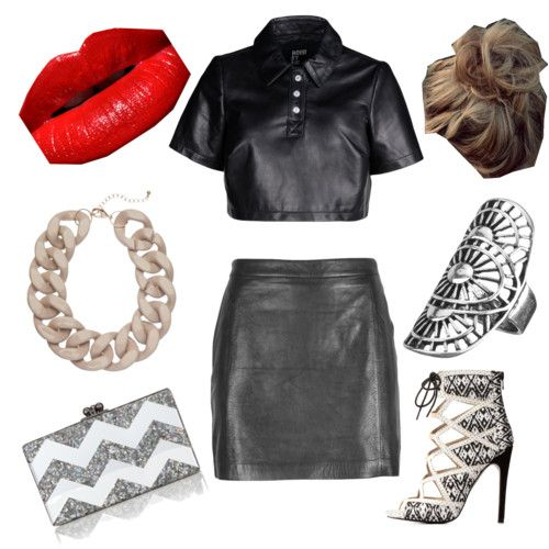 black léa by hanonaa on Polyvore featuring polyvore fashion style Hood by Air VIPARO Charlotte Russe Edie Parker maurices