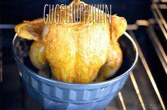 Melina's süßes Leben: Knuspriges Hähnchen aus dem Backofen - Gugelhupfhuhn mit Kartoffeln