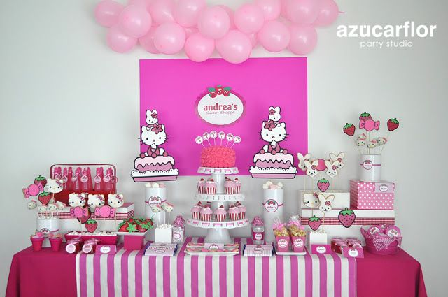 AZUCAR FLOR party studio: Hello Kitty (fiesta Andrea)