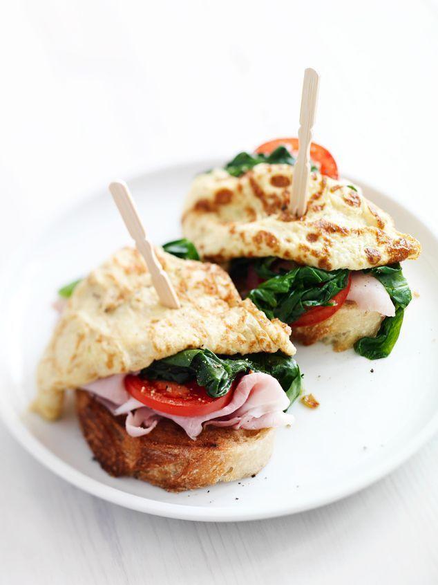toastsnack met spinazie, ham en omelet | ZTRDG magazine