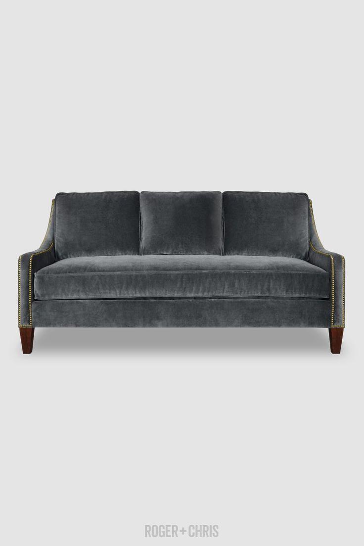 Gracie Slope Arm Sofa Will Cushion Back In Como Dark Grey