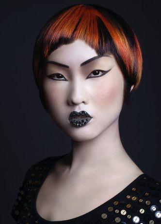 präsentiert von www.my-hair-and-me.de #women #hair #haare #asian #style #asiatin #short #kurz #kurzhaarfrisur #black #schwarz #red #rot #glatt #straight