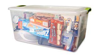 emergency kit for storm shelter