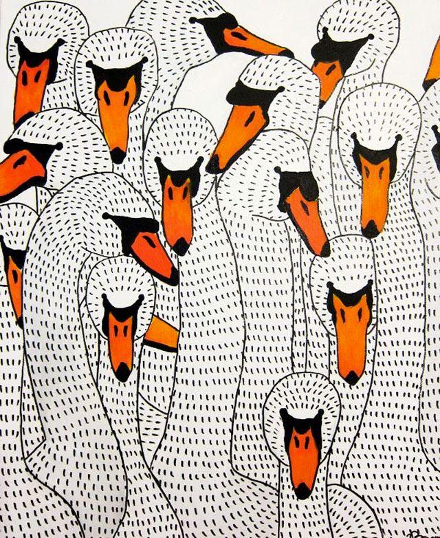 If You're A Bird, I'm A Bird, Johanna Burai, paintings, patterns, prints, acrylic