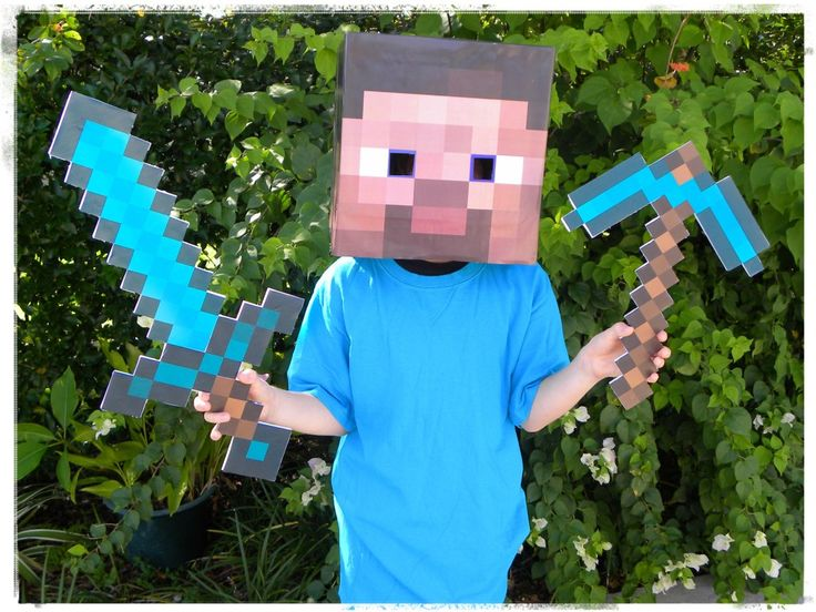 How to make a Minecraft Steve costume for cheap! homemade minecraft costume
