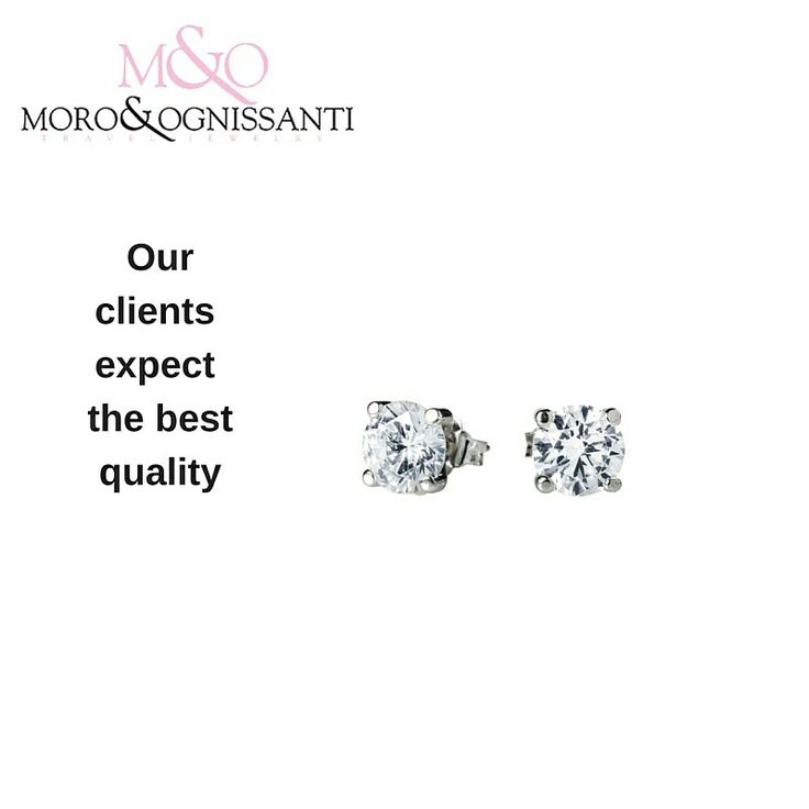 Brilliant stud earrings held by a four clawed frame, finished in 18kt white gold with cubic zirconia. Incomparable quality and price 118AUD on our website. Visit www.moroognissanti.com.au or request more details at salesaustralia@moroognissanti.com.au