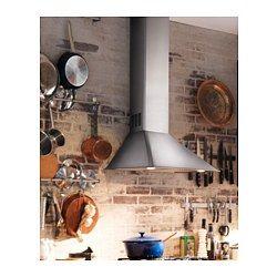 IKEA - VINDRUM, Hotte aspirante murale, Garantie 5 ans gratuite. Détails des conditions disponibles en magasin ou sur internet.Panneau de commandes frontal et facile d'accès.Vous pouvez facilement retirer et nettoyer le filtre à graisse au lave-vaisselle. 2 filtres à graisse inclus.L'ampoule halogène fournit un bon éclairage au-dessus de la zone de cuisson. 2 ampoules halogènes comprises.Installation possible en évacuation extérieure ou en recyclage.