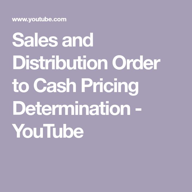 Sales and Distribution Order to Cash Pricing Determination - YouTube