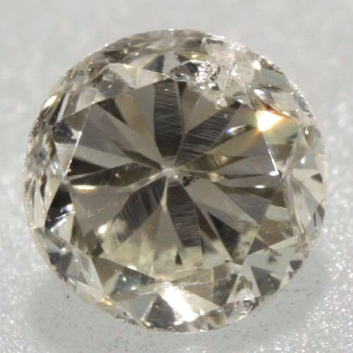 0.07 ctw Round Brilliant Yellow (Y1) I1 Clarity 2.54 mm Natural Loose Diamond