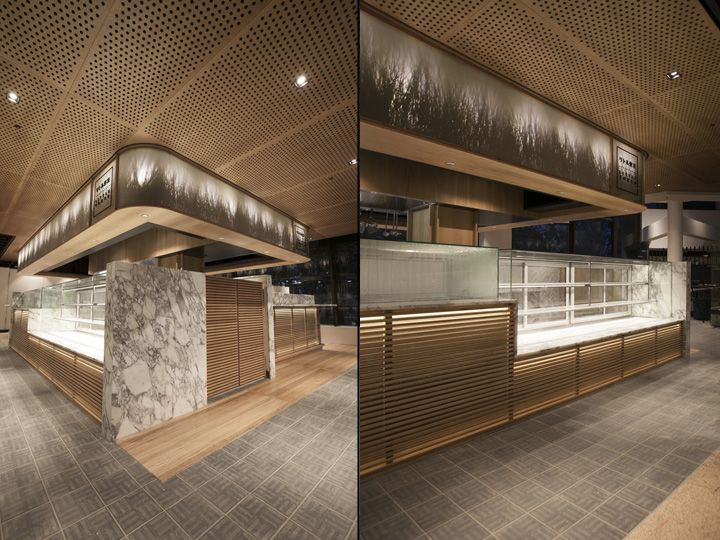 Lighting is central to accentuating the forms, junctions and textures of the overall design allowing the space to read as light and floating and integral to the dining experience of the customer.