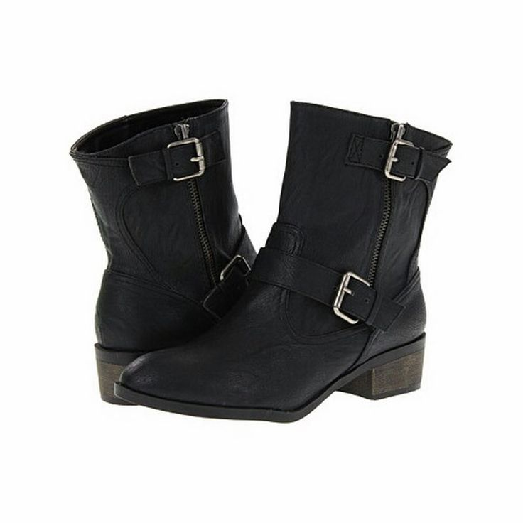 Ankle Biker Boot | 27 Boutique  Chinese Laundry's Riding Hood Boot - a black faux leather ankle boot, great paired with your favorite skinny jeans or leggings.