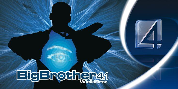 Plakat programu telewizyjnego Big Brother, projekt: Studio Zakład, www.zaklad.pl