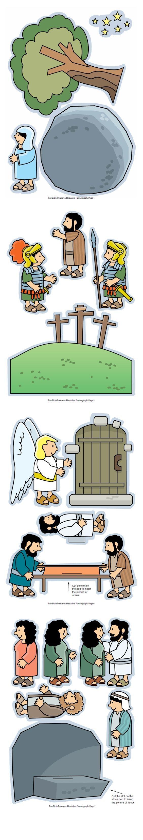Pasen, Hij leeft, flanelplaten voor kleuters, kleuteridee.nl , He 's alive, Flannel Bible Sheets, free printable 2
