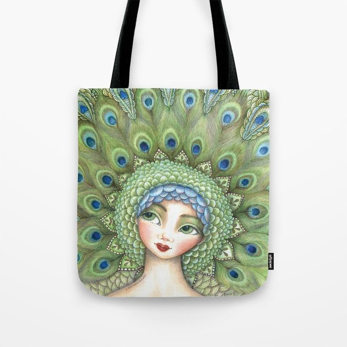 Buy Miss Peacock Tote Bag by mookoodesign. Worldwide shipping available at Society6.com. Just one of millions of high quality products available.