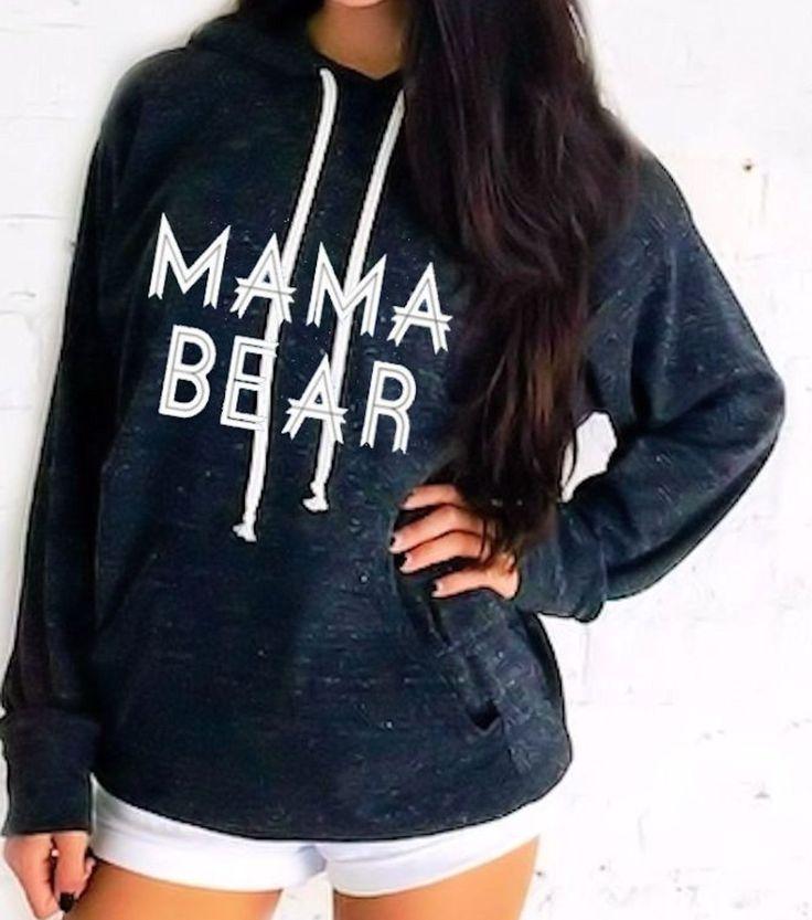 Mama Bear hoodie sweatshirt. sweatshirt. Made by ThinkElite1. by THINKELITE1 on Etsy