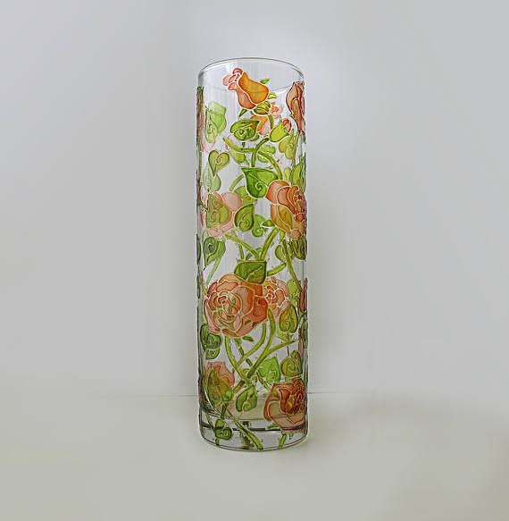 Check out this item in my Etsy shop https://www.etsy.com/ru/listing/525959509/roses-glass-vase-flower-vase-decorative
