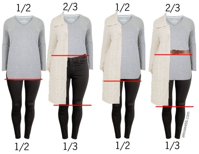 Plus Size Proportions - How to wear your clothes in a more flatting way, Alexa Webb alexawebb.com