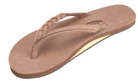 Outdoors Inc. - Rainbow Sandals Women's Flirty Braidy Leather Sandal  dark brown size medium