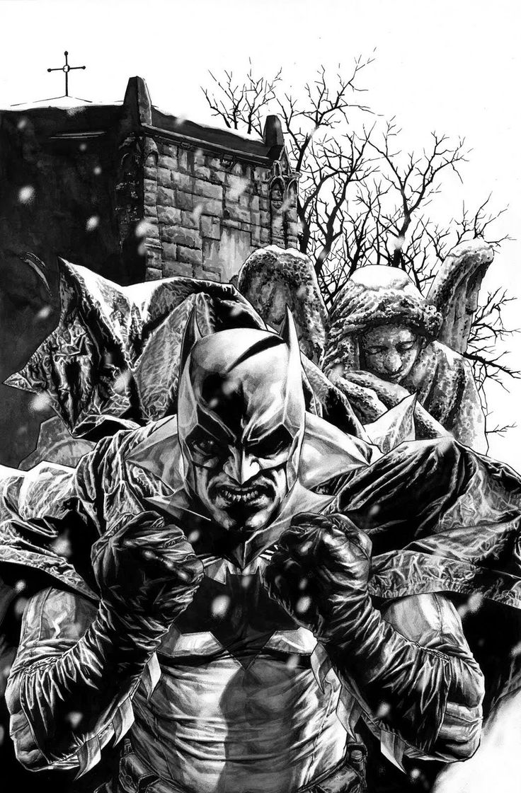 Batman by Lee Bermejo    Yes, but the weeping Angel is behind him..oh Batman your doomed...