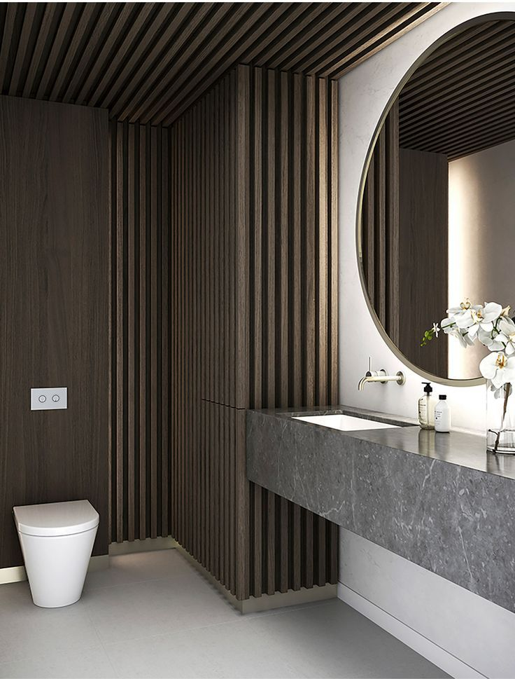 A minimalist aesthetic motivated by the luxury of space - Luxury bathrooms in small spaces ...