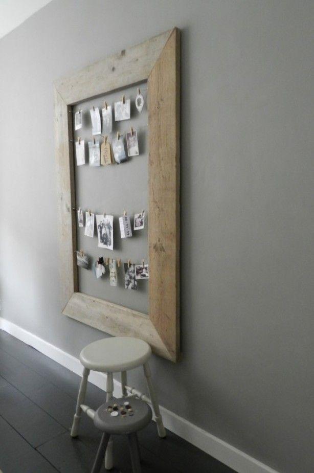 Leuk voor aan de muur om foto's of kaartjes aan te hangen. Mooie herinneringen in een lijstje. I love it!