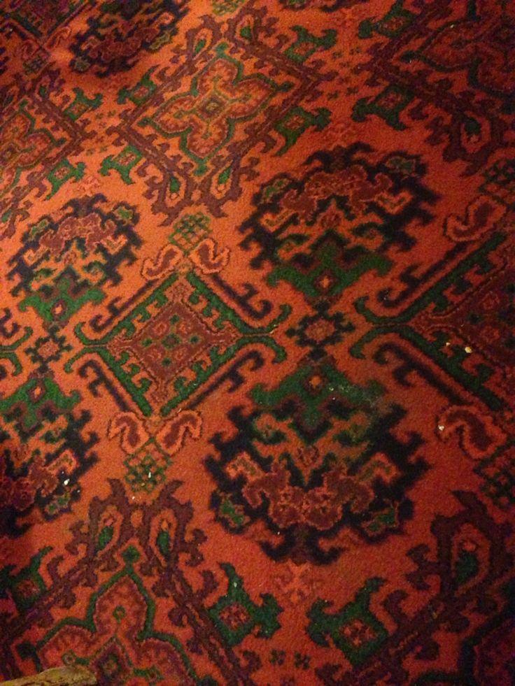 The Wig and Pen pub carpet, Margate, Kent.