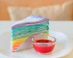 Gâteau de crêpes rainbow