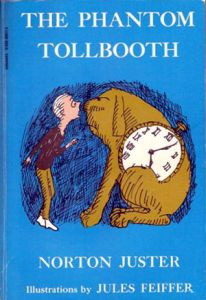The Phantom Tollbooth Book Cover, Illustration by Jules Feiffer - Tock the dog is one of  our 10 Cool Dog Names!