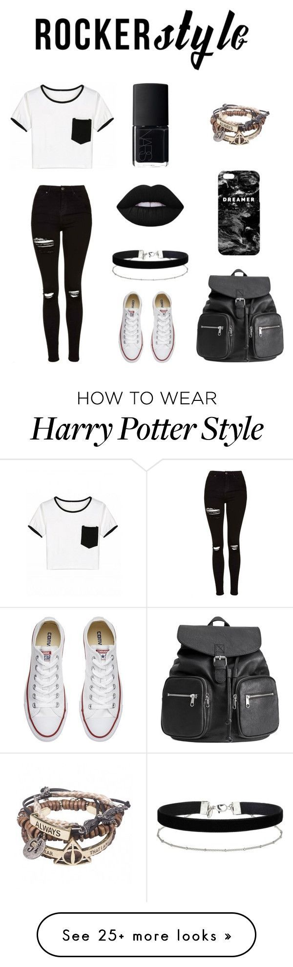 """"" by megamindxx on Polyvore featuring Topshop, Converse, Mr. Gugu & Miss Go, Miss Selfridge, Lime Crime, NARS Cosmetics, rockerchic and rockerstyle ❤"