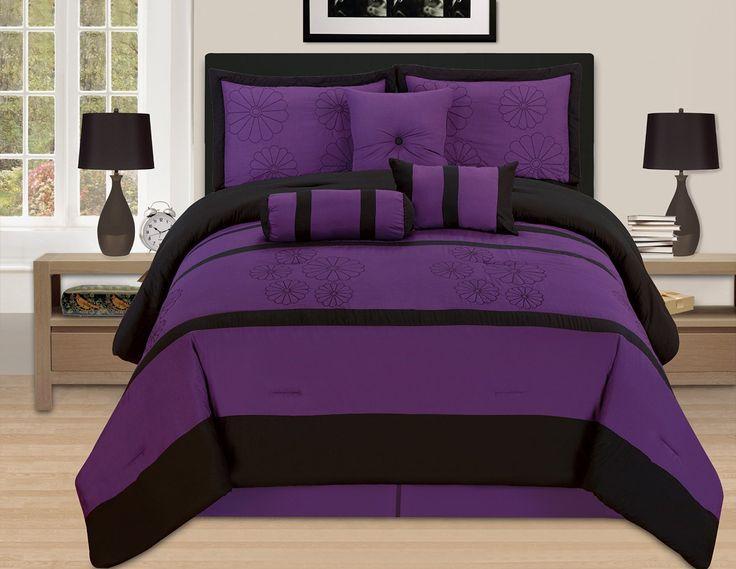 total fab deep dark purple comforters u0026 bedding sets - Purple Comforters