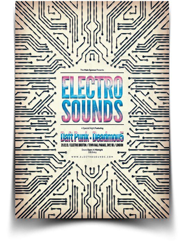 serialthrill: Electro Flyer by BlueMonkeyLab | Awesome Design Inspiration