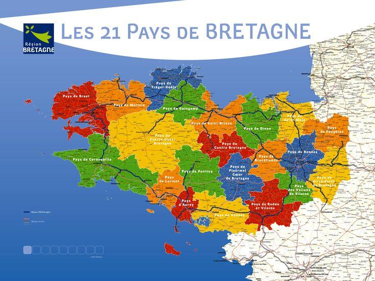 Les 21 pays de Bretagne