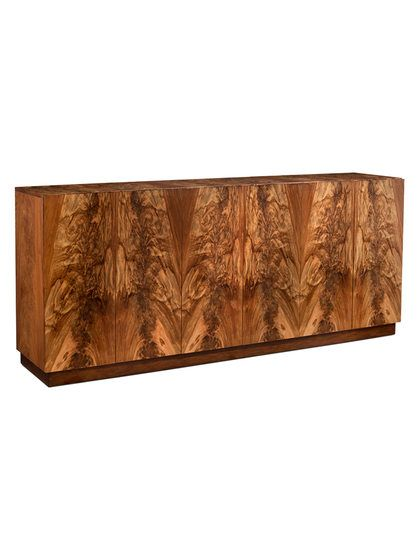 WOW! this is a stunning piece of furniture which Features an entedua veneered finish  Wallit Six-Door Cabinet by John Richard at Gilt, talk about well put together and the veneer detail is beyond flawless, well worth the 4K sale price.....RR