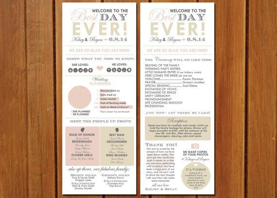 We have seen some fascinating wedding programs in the past (like these wedding programs and these, just to name a few), but this is a first! Introducing the Infographic Wedding Program, a brilliant...
