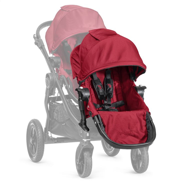 Baby Jogger City Select Black Frame Second Seat Red