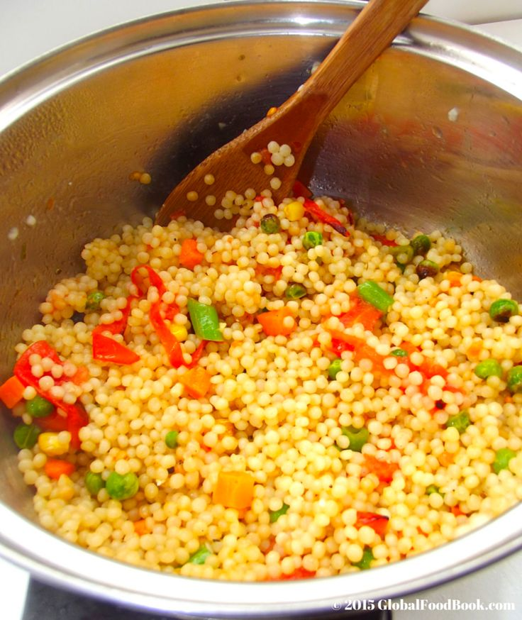 AWESOME Mediterranean Vegetable Couscous Recipe