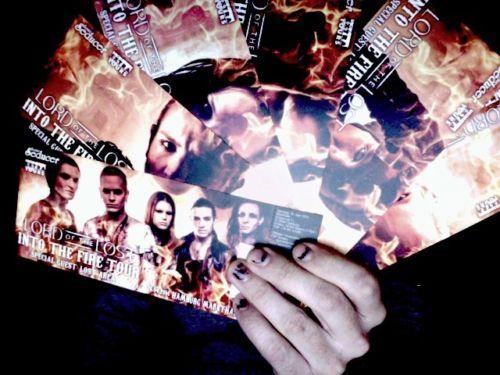 """Hard-Tickets für die gesamte Lord Of The Lost """"INTO THE FIRE"""" Tour - BENEFIZ-AUKTION für die HAMMERSTUDIOS, die in dieser Woche ein Opfer der Flammen wurden."""
