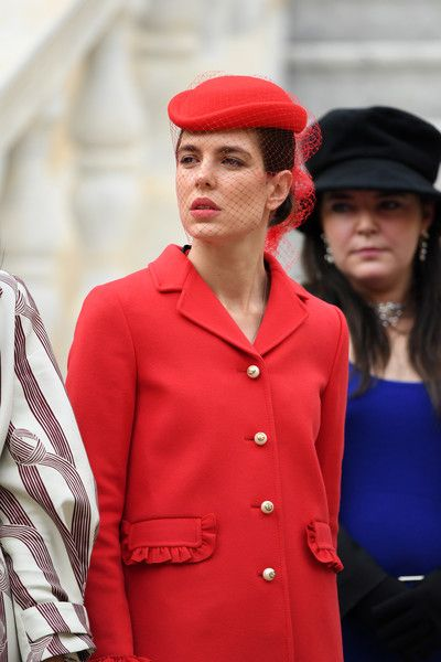 Charlotte Casiraghi Photos Photos - Charlotte Casiraghi attends the Monaco National Day Celebrations in the Monaco Palace Courtyard on November 19, 2016 in Monaco, Monaco. - Monaco National Day 2016