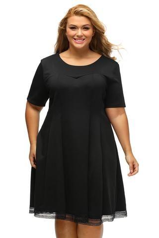 Fekete skater ruha áttetsző réteges szoknyával