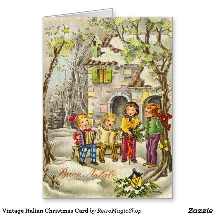Vintage Italian Christmas Card | Vintage International Christmas and ...