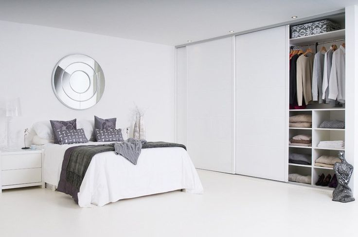 Image result for white gloss fitted wardrobes