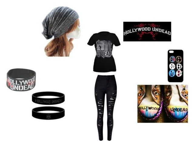 """HollyWood Undead Fan outfit"" by willowokimaw on Polyvore featuring WithChic"