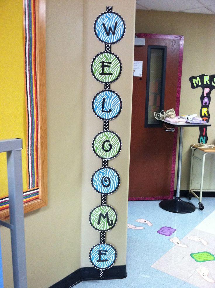 Kindergarten Lifestyle: WELCOME Sign Freebie