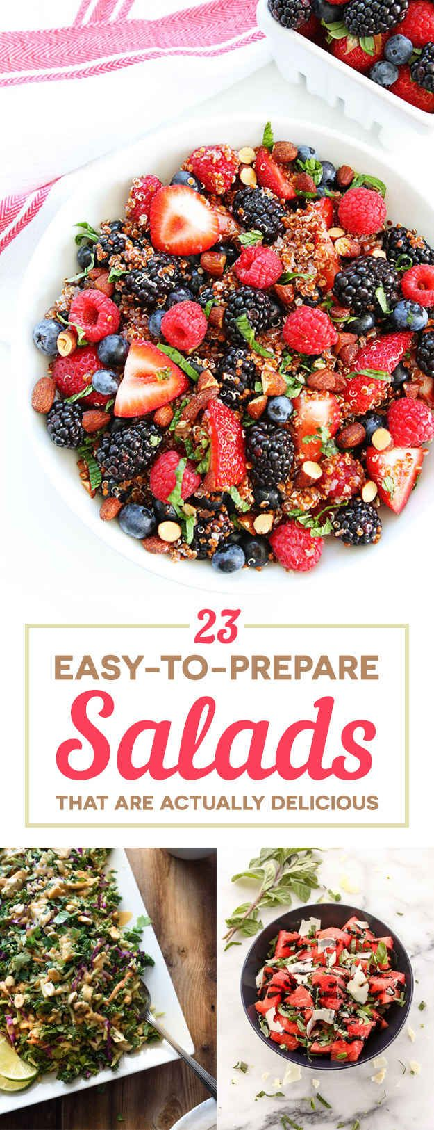 23 Easy Healthy Salads That Actually Look Good AF