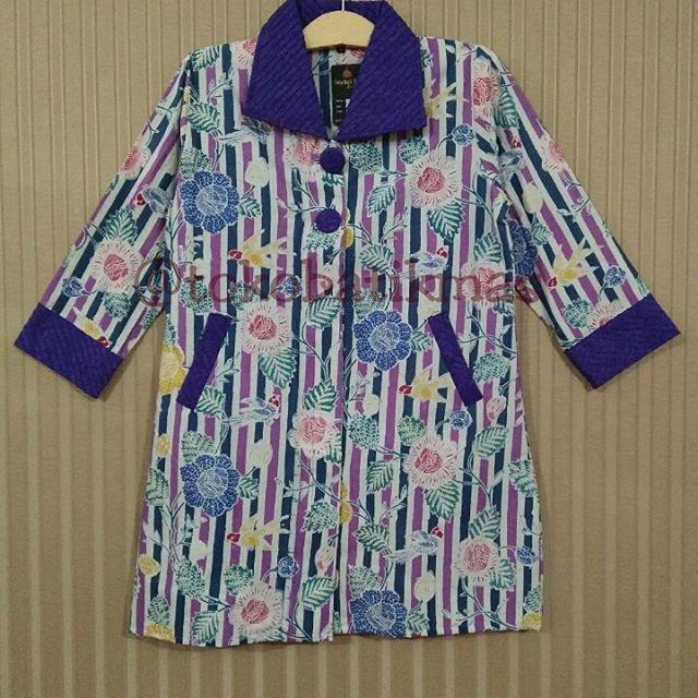 Dress Garis  Kain Batik Encim Garis  Size XL  IDR 155.000