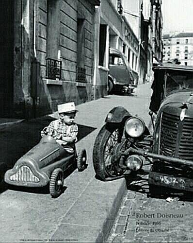 Cars - 1956 - Photo credit, Robert Doisneau.    Saint-Sulpic feature about the photographer Robert Doisneau.